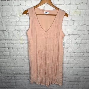 Old Navy Pink Sleeveless Dress V-neck Size M